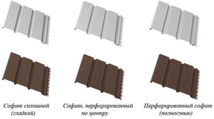 Металлические софиты для крыши