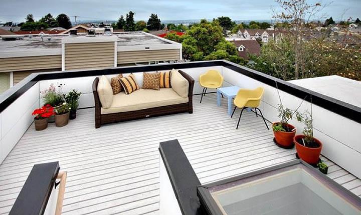Эксплуатируемая крыша: площадь, нагрузки и другие особенности